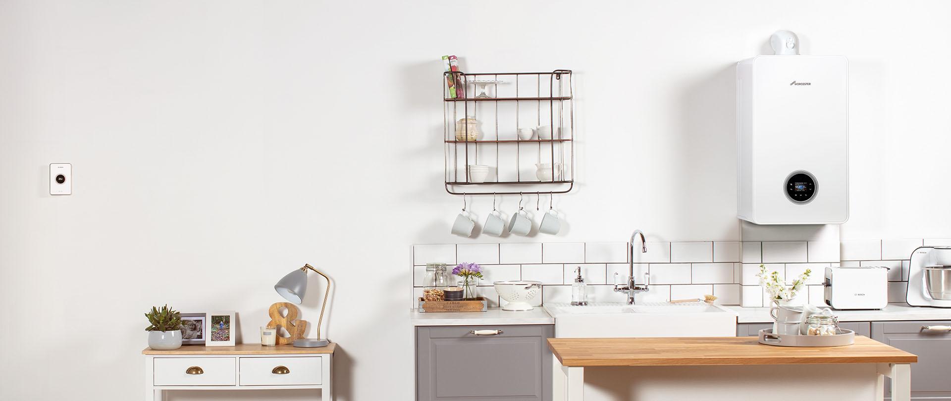 Worcester Bosch Greenstar 4000 in kitchen