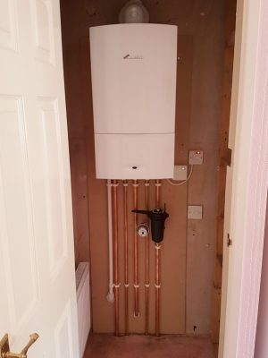 Worcester boiler with copper pipes